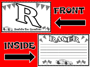 RACER Writing Strategy Flip Cards for Text Based Essays