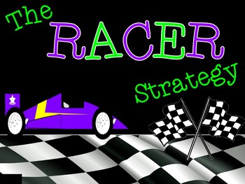 RACER Writing Strategy Presentation, Printables, and Bulle