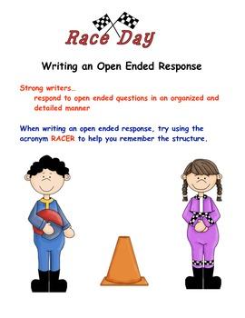 RACER poster for reading responses