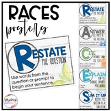 RACES- Constructed Response Posters Succulent Theme