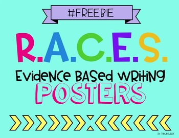 RACES Evidence Based Writing Poster Set
