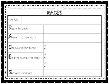 RACES Graphic Organizer