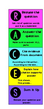 RACES Graphic Organizer and Bookmarks