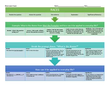 RACES Mini Lesson with Graphic Organizer
