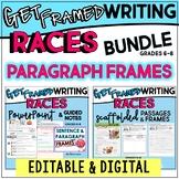 RACES Writing Paragraph Frames & Templates Bundle EDITABLE