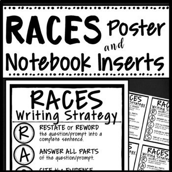 RACES WRITING STRATEGY POSTER & INTERACTIVE NOTEBOOK INSERT- FREEBIE