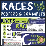 RACES Writing Strategy Posters, Bulletin Board, Anchor Cha