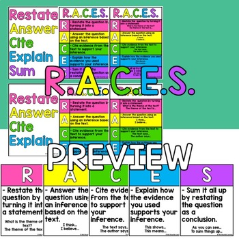 RACES Writing Strategy For Constructed Response Questions