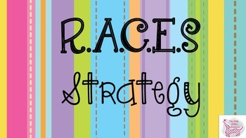 RACES Writing Strategy: How to Answer Constructive Responses {Doodle Font}