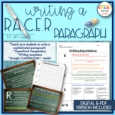 RACES Writing Strategy, Paragraph Writing, Templates, PowerPoint Presentation