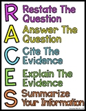 RACES Writing Strategy Test Taking Prompt Answering Strategies Posters