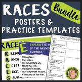 RACES Writing Strategy Posters, Interactive Notebook, Practice Bundle