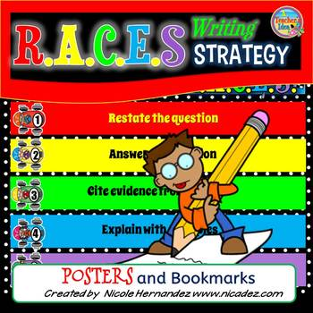 Constructed Response RACES Posters and Bookmarks