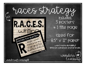 RACES Writing Strategy - Weathered Wood