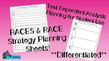 RACES and RACE Strategy Student Planning Sheet - TDA