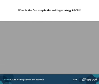 RACES writing review