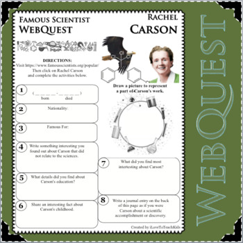 RACHEL CARSON - WebQuest in Science - Famous Scientist - Differentiated