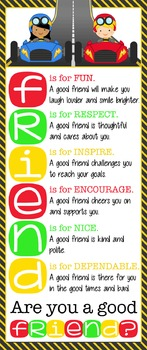 RACING - Classroom Decor: LARGE BANNER, FRIENDS