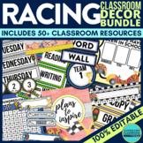RACING THEME Classroom Decor EDITABLE
