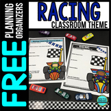 RACING Theme Decor Planner by Clutter Free Classroom