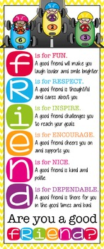 RACING kidz - Classroom Decor: LARGE BANNER, FRIENDS