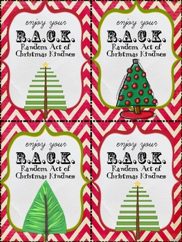 RACK Random Acts of Christmas Kindness