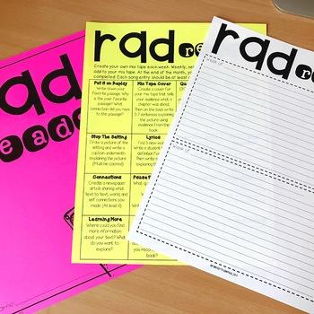 RAD READS Upper Grade Weekly Reading Activities