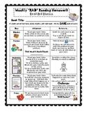 RAD Reading Weekly Homework Packet