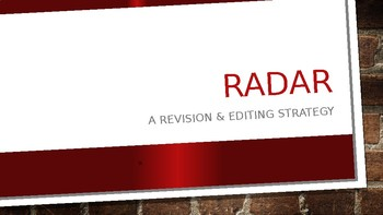 RADAR: A Revision and Editing Strategy