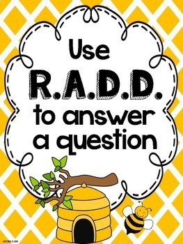 RADD Restate the Question Answering Comprehension Questions Bees