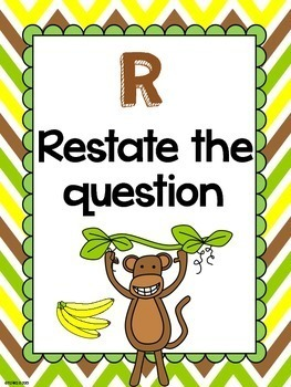 RADD Restate the Question Answering Comprehension Questions Rainforest Monkeys