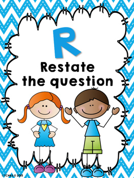 RADD Restate the Question Answering Comprehension Questions Scrappy Kids Edition