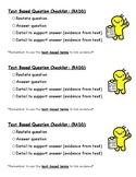 RADD Short Response Question Checklist