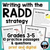 RADD Writing Strategy 3rd 4th 5th grade prompts & passages