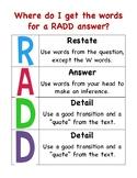 RADD Writing Support
