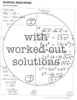 RADICAL EQUATIONS - algebra 2