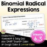 Binomial Radical Expressions (Algebra 2 - Unit 6)