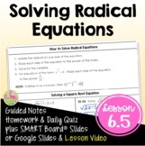 Algebra 2 Solving Square Root and Radical Equations
