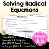 Solving Radical Equations (Algebra 2 - Unit 6)