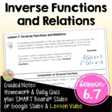 Inverse Functions (Algebra 2 - Unit 6)