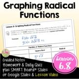 Graphing Radical Functions (Algebra 2 - Unit 6)