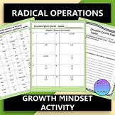 Radicals Growth Mindset Activity: Simplify, Add, Subtract,