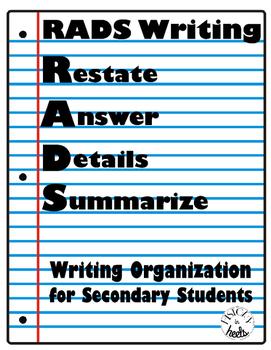 #smallbusinesssaturday RADS Writing Process