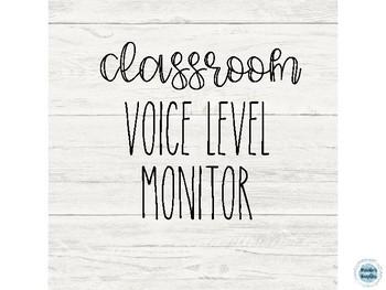 RAE DUNN & shiplap voice monitor