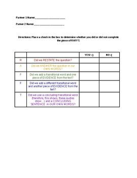 RAFFT checklist