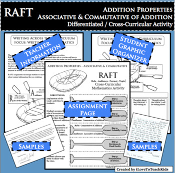 RAFT Associative Commutative Properties Addition Differentiated Cross-Curricular