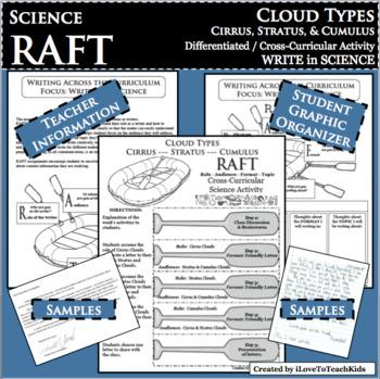 RAFT Cloud Types Cirrus Stratus Cumulus WRITE in SCIENCE Cross-Curricular