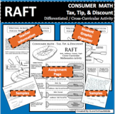 RAFT Consumer Math Tax Tip Discount Cross-Curricular Differentiated