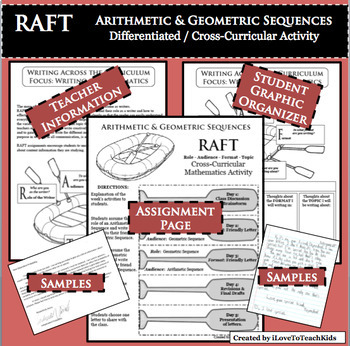 RAFT Differentiated Cross-Curricular Activity Arithmetic & Geometric Sequences