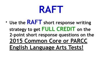 Common Core PARCC ELA Test Prep: RAFT Short Response Writing Strategy
